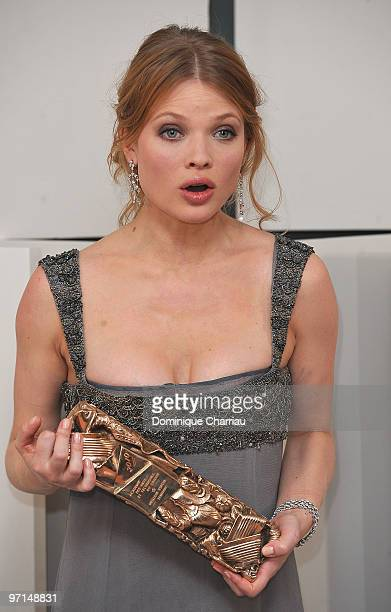 Actress Melanie Thierry poses in Awards Room during 35th Cesar Film Awards at Theatre du Chatelet on February 27 2010 in Paris France