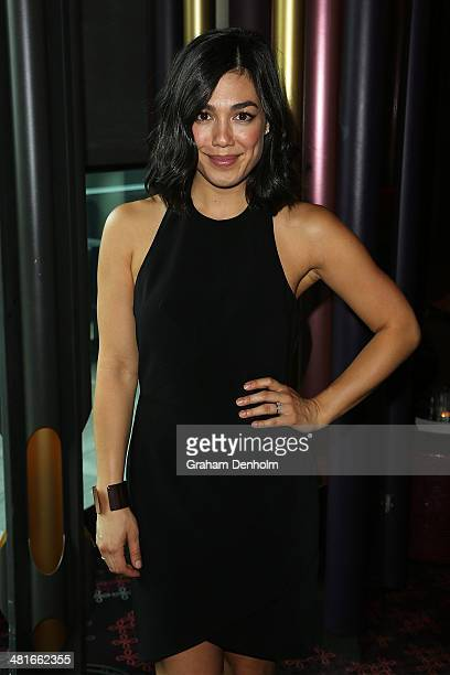 Actress Melanie Vallejo attends the 65th Logie Awards nominations event held at Club 23 Crown Towers on March 31 2014 in Melbourne Australia