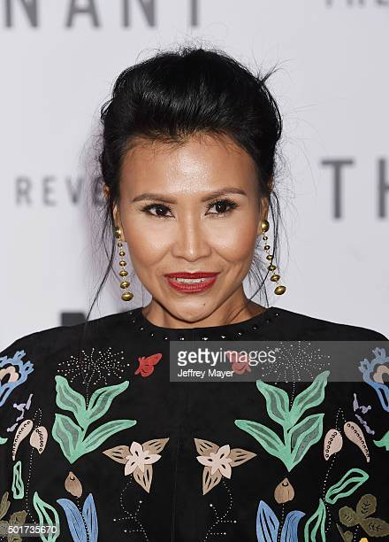 Actress Melaw Nakehk'o arrives at the Premiere of 20th Century Fox And Regency Enterprises' 'The Revenant' at TCL Chinese Theatre on December 16 2015...