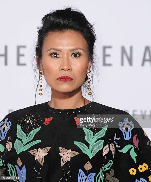 Actress Melaw Nakehk'o attends the Premiere of 20th Century Fox And Regency Enterprises' 'The Revenant' at TCL Chinese Theatre on December 16 2015 in...