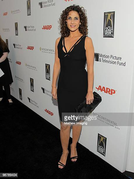 Actress Melina Kanakaredes arrives at the 5th Annual A Fine Romance at 20th Century Fox on May 1 2010 in Los Angeles California
