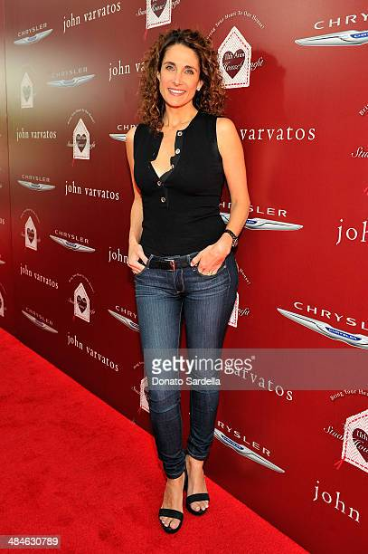 Actress Melina Kanakaredes arrives at the John Varvatos 11th Annual Stuart House Benefit at John Varvatos Boutique on April 13 2014 in West Hollywood...