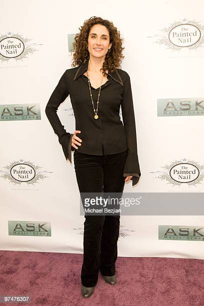 Actress Melina Kanakaredes arrives at the Painted Nail and Ask Music Group Oscar Gifting Suite on March 5 2010 in Sherman Oaks California