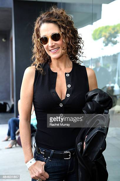 Actress Melina Kanakaredes attends the John Varvatos 11th Annual Stuart House Benefit at John Varvatos Boutique on April 13 2014 in West Hollywood...
