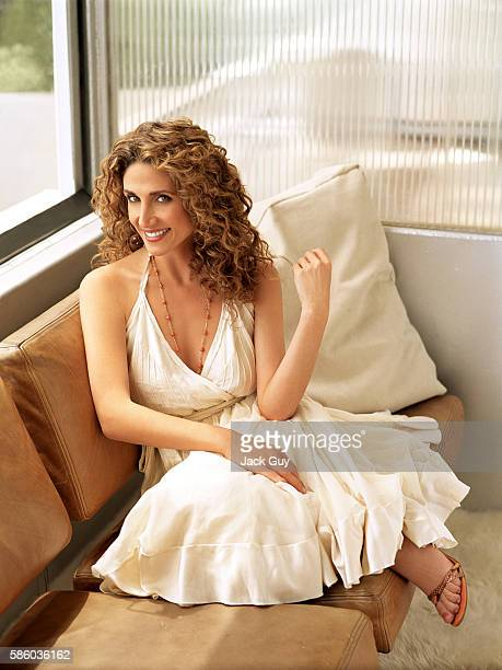 Actress Melina Kanakaredes is photographed OK Magazine in 2006 in Los Angeles California