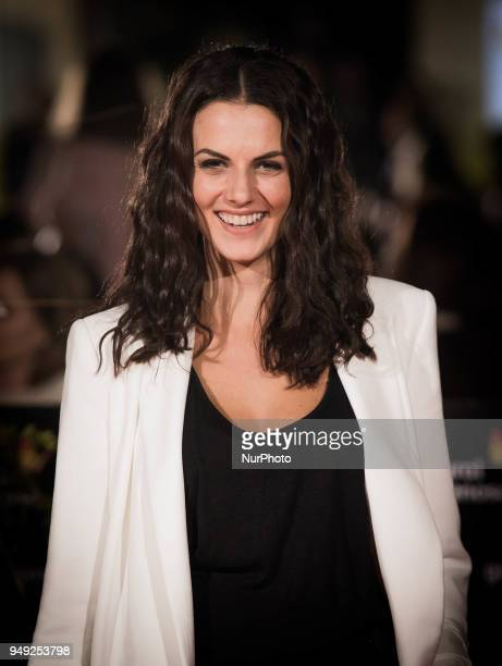 Actress Melina Matthews attends 'Casi 40' premiere during the 21th Malaga Film Festival at the Cervantes Theater on April 20 2018 in Malaga Spain