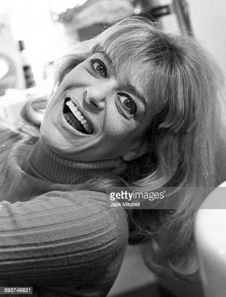 Actress Melina Mercouri backstage during the run of 'Illya Darling' on Broadway in December 1967
