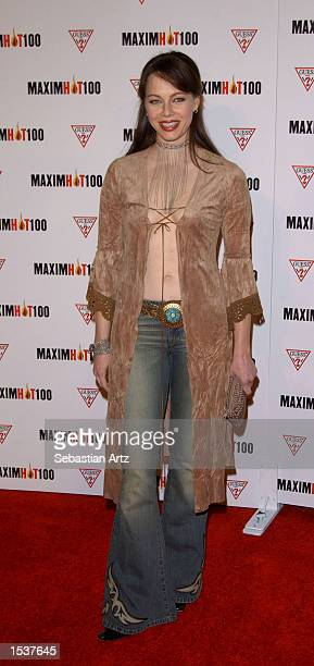 Actress Melinda Clark arrives at Maxim's Hot100 party April 25 2002 in Los Angeles CA