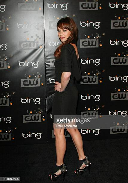 Actress Melinda Clarke arrives at the The CW premiere party at Warner Bros Studios on September 10 2011 in Burbank California