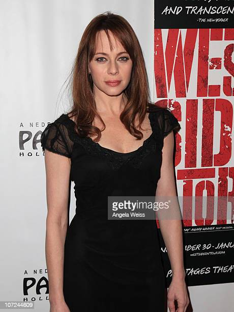 Actress Melinda Clarke attends the opening night of 'West Side Story' at the Pantages Theatre on December 1 2010 in Hollywood California