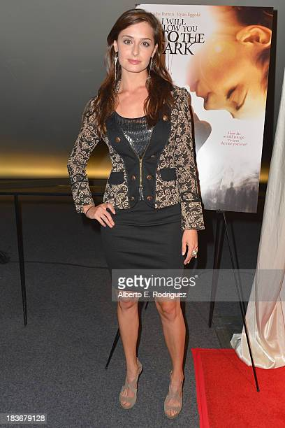 Actress Melinda Cohen attends the premiere of Epic Pictures' 'I Will Follow You Into The Dark' at the Landmark Theater on October 8 2013 in Los...