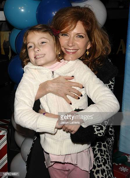 Actress Melinda McGraw and daughter attend Disney on Ice presents Let's Celebrate at LA LIVE on December 15 2010 in Los Angeles California