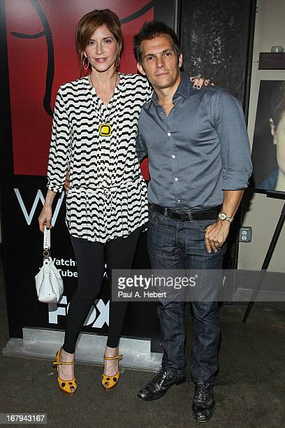 Actress Melinda McGraw and spouse Steve Pierson attend the 1 Year Anniversary of the WIGS Digital Channel at Akasha on May 2 2013 in Culver City...