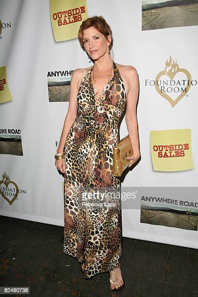 Actress Melinda McGraw arrives at 'OUTSIDE SALES' DVD Launch Party at The House of Blues on August 20 2008 in Los Angeles California