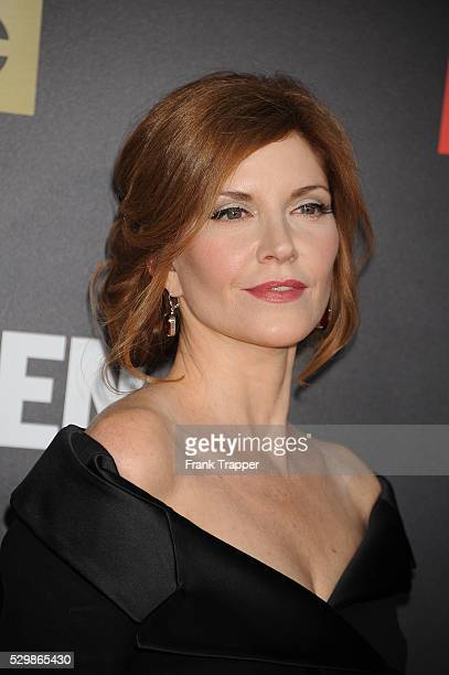 Actress Melinda McGraw arrives at the AMC celebration of the final 7 episodes of 'Mad Men'' with the Black Red Ball held at the Dorothy Chandler...