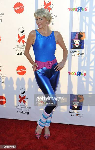 Actress Melinda McGraw arrives at the Children Affected By AIDS Foundation's 17th Annual Dream Halloween event at Barker Hanger on October 30 2010 in...