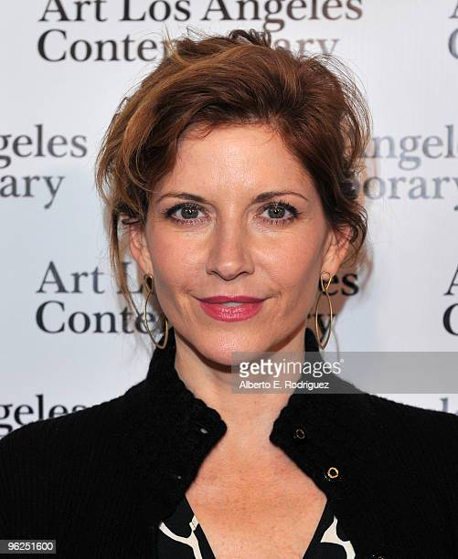Actress Melinda McGraw arrives at the opening night gala of the 1st Annual Art Los Angeles Contemporary held at the Pacific Design Center on January...