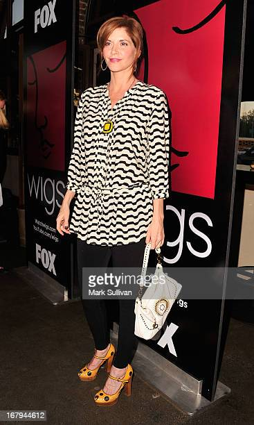 Actress Melinda McGraw arrives for the party to celebrate the one year anniversary of The WIGS Digital Channel at Akasha on May 2 2013 in Culver City...