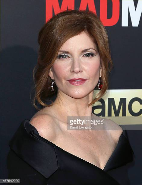 Actress Melinda McGraw attends the AMC celebration of the final 7 episodes of Mad Men with The Black Red Ball at the Dorothy Chandler Pavilion on...