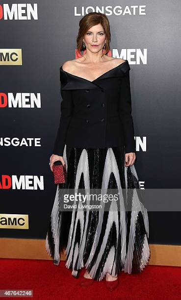 Actress Melinda McGraw attends the AMC celebration of the final 7 episodes of 'Mad Men' with The Black Red Ball at the Dorothy Chandler Pavilion on...