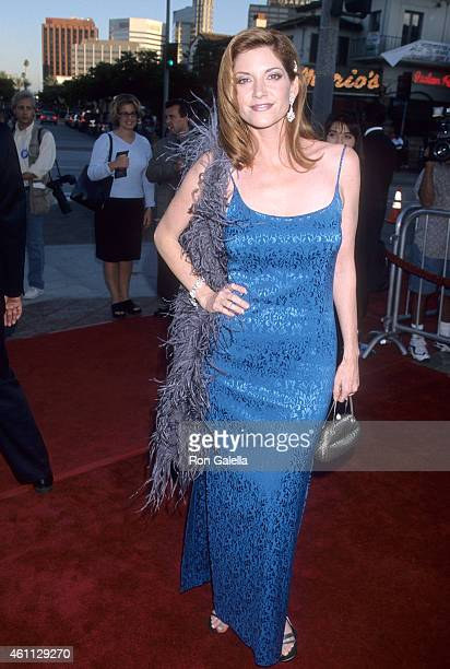 Actress Melinda McGraw attends the 'Wrongfully Accused' Westwood Premiere on August 19 1998 at the Mann's Village Theatre in Westwood California