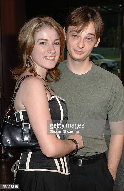 Actress Melisa Bereid and actor Fred Meyers attend the world premiere of Dirty Deeds at the Directors Guild of America on August 23 2005 in Los...