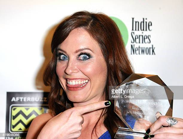 Actress Melissa Archer winner Best Lead Actress from Viral at the 7th Annual Indie Series Awards held at El Portal Theatre on April 6 2016 in North...