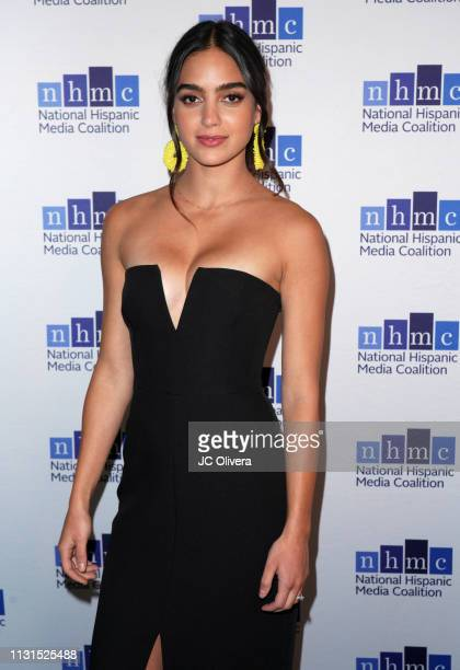 Actress Melissa Barrera attends the 22nd Annual National Hispanic Media Coalition Impact Awards Gala at Regent Beverly Wilshire Hotel on February 22...