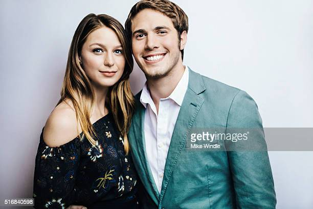 Actress Melissa Benoist and actor Blake Jenner are photographed for Portrait Session on March 15 2016 in Austin Texas