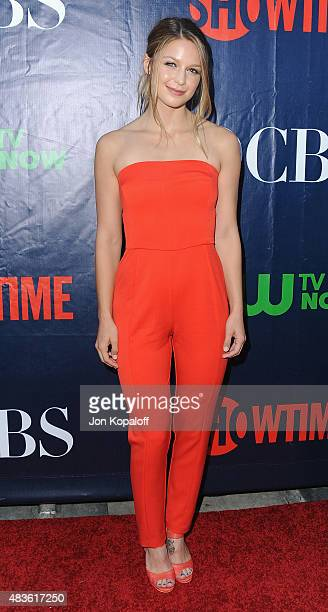 Actress Melissa Benoist arrives at CBS, CW And Showtime 2015 Summer TCA Party at Pacific Design Center on August 10, 2015 in West Hollywood,...