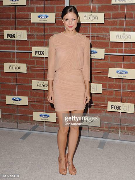 Actress Melissa Benoist arrives at the FOX Fall EcoCasino Party at The Bookbindery on September 10 2012 in Culver City California