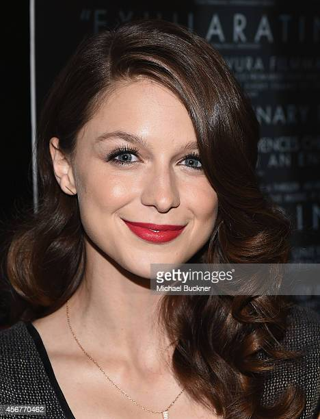 Actress Melissa Benoist arrives at the premiere of Sony Pictures Classics' 'Whiplash' at the Bing Theatre At LACMA on October 6 2014 in Los Angeles...