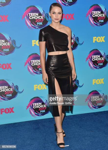 Actress Melissa Benoist arrives at the Teen Choice Awards 2017 at Galen Center on August 13 2017 in Los Angeles California
