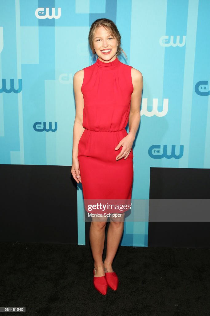 Actress Melissa Benoist attends the 2017 CW Upfront on May 18, 2017 in New York City.