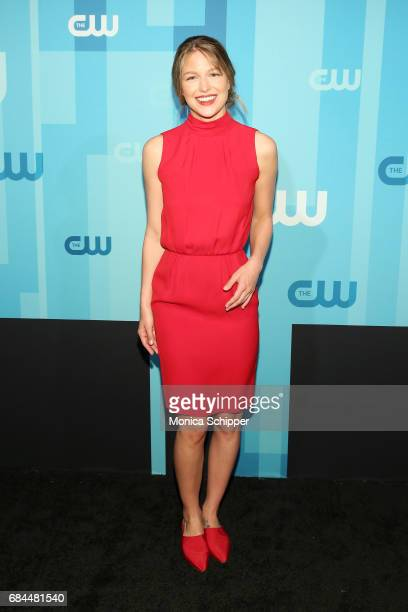 Actress Melissa Benoist attends the 2017 CW Upfront on May 18 2017 in New York City