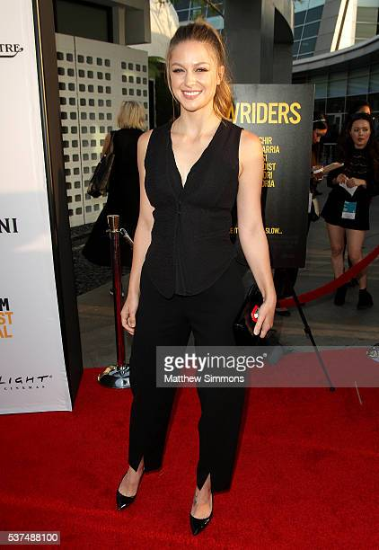 Actress Melissa Benoist attends the opening night premiere of 'Lowriders' during the 2016 LA Film Festival at ArcLight Cinemas on June 1 2016 in...