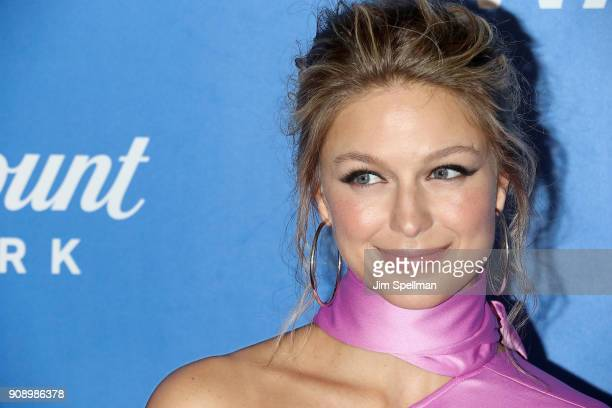 Actress Melissa Benoist attends the 'Waco' world premiere at Jazz at Lincoln Center on January 22 2018 in New York City