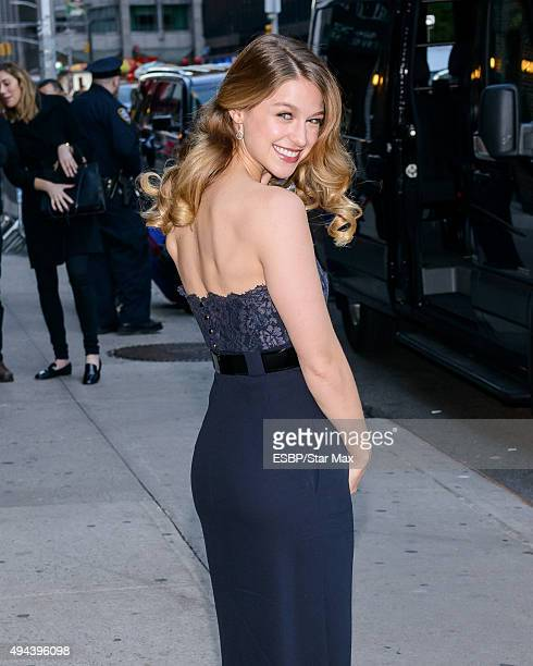 Actress Melissa Benoist is seen on October 26 2015 in New York City