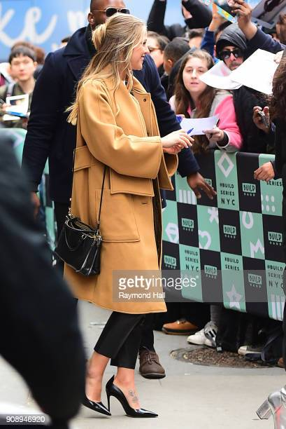 Actress Melissa Benoist is seen outside Aol Live on January 22 2018 in New York City