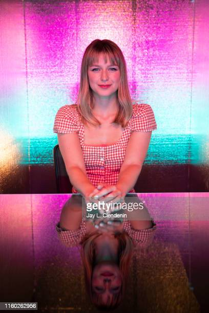 Actress Melissa Benoist of 'Supergirl' is photographed for Los Angeles Times at ComicCon International on July 20 2019 in San Diego California...