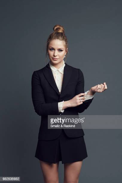 Actress Melissa Benoist poses for a portrait at the 2016 People's Choice Awards at the Microsoft Theater on January 6 2016 in Los Angeles California