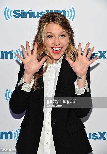 Actress Melissa Benoist visits SiriusXM Studio on March 17 2016 in New York City