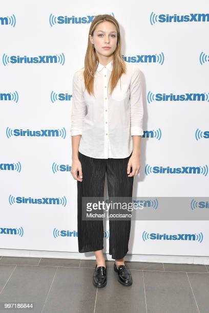 Actress Melissa Benoist visits SiriusXM Studios on July 12 2018 in New York City