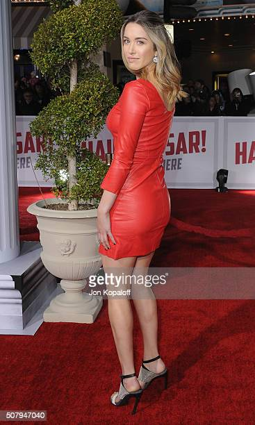 "Actress Melissa Bolona arrives at the Los Angeles Premiere ""Hail, Caesar!"" at Regency Village Theatre on February 1, 2016 in Westwood, California."
