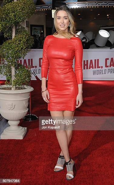 Actress Melissa Bolona arrives at the Los Angeles Premiere Hail Caesar at Regency Village Theatre on February 1 2016 in Westwood California