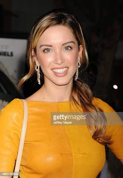 Actress Melissa Bolona arrives at the Los Angeles premiere of 'Dumb And Dumber To' at Regency Village Theatre on November 3, 2014 in Westwood,...