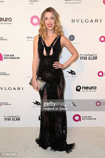 Actress Melissa Bolona attends the 24th Annual Elton John AIDS Foundation's Oscar Viewing Party on February 28, 2016 in West Hollywood, California.