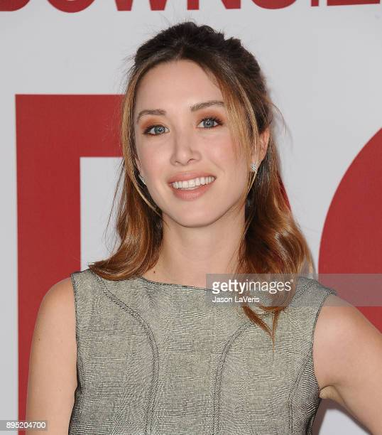 "Actress Melissa Bolona attends the premiere of ""Downsizing"" at Regency Village Theatre on December 18, 2017 in Westwood, California."
