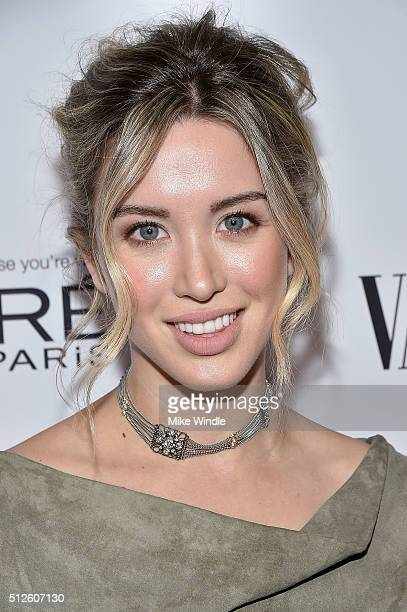 Actress Melissa Bolona attends Vanity Fair L'Oreal Paris Hailee Steinfeld host DJ Night at Palihouse Holloway on February 26 2016 in West Hollywood...