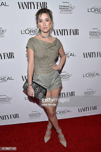Actress Melissa Bolona attends Vanity Fair, L'Oreal Paris, & Hailee Steinfeld host DJ Night at Palihouse Holloway on February 26, 2016 in West...